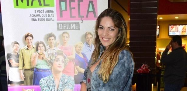 Anamara na pré-esteria do filme