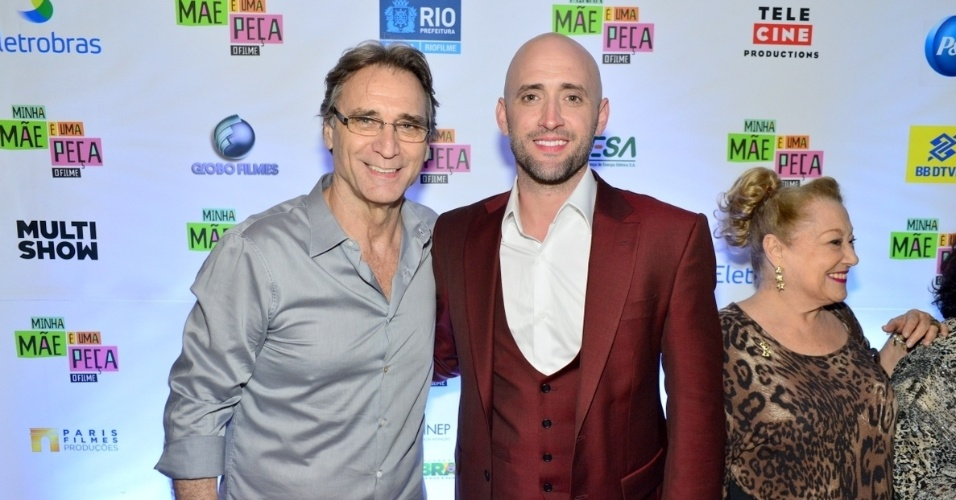 Herson Capri e Paulo Gustavo, no elenco de