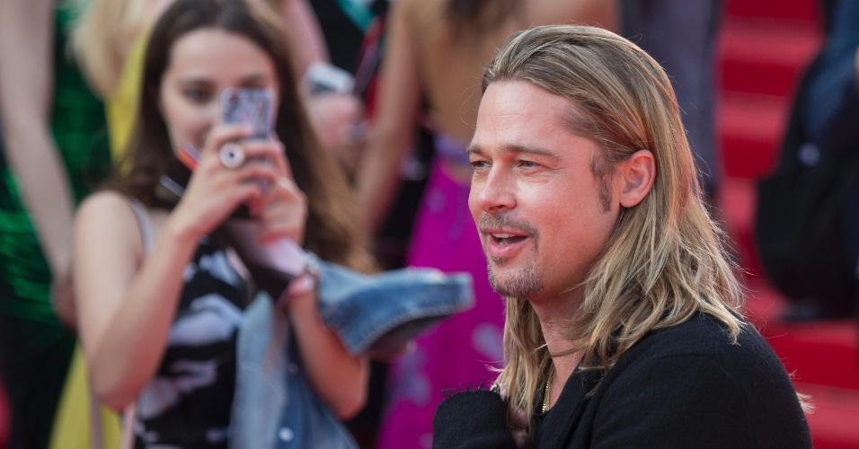 20.jun.2013 - Brad Pitt abriu o Festival de Cinema de Moscou com