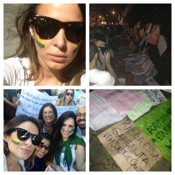 20.jun.2013 - A cantora baiana Alinne Rosa foi para as ruas de Salvador nesta quinta-feira