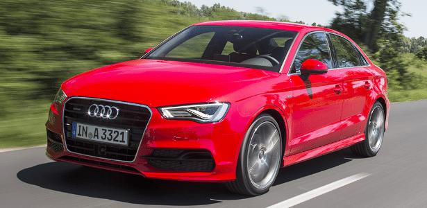 """Audi A3 Sedan S-Line, em test-drive na Europa: modelo deve ter papel de """"Golf com bumbum"""" - Divulgação"""