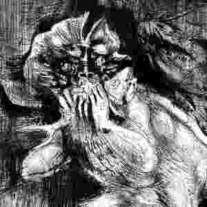 A obra de Grassmann é muito marcada por referências ao universo medieval, sempre com ilustrações de cavaleiros lutando contra monstros - Divulgação
