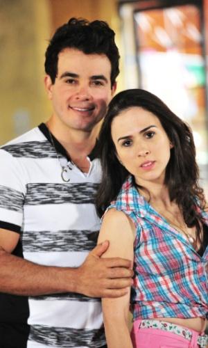 Carlito e Valdirene em cena da novela