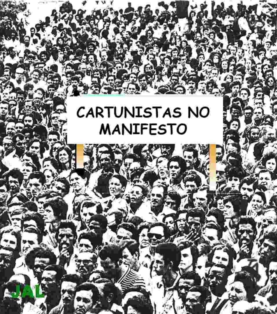 Cartunistas retratam as manifestações em charges - Divulgação