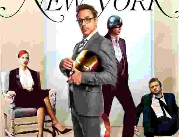 """Capa fictícia da revista """"New York"""" com os Vingadores - Reprodução/tumblr/mediavengers"""