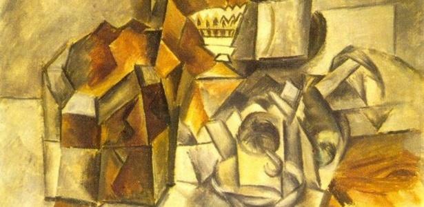 """Quadro """"Compotier et Tasse"""", de Pablo Picasso, estimado em R$ 25,6 milhões - Reprodução / Departamento de Justiça dos EUA"""