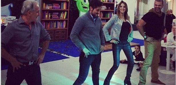 25 jun.2013 - Ticiane Pinheiro dança