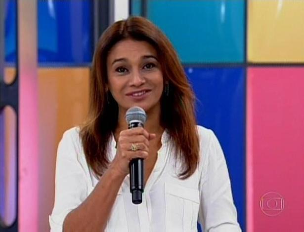 A atriz Dira Paes gravou um depoimento para Fátima Bernardes