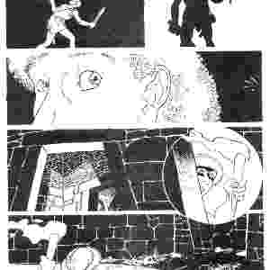 """""""Minotauro"""" mostra o lado mais sombrio do cartunista e também aposta em tons monocromáticos uma história de suspense - Acervo/Laerte"""