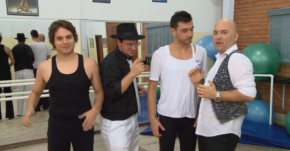 """O programa """"Amigos da Onça"""" com Murilo Gun, Allan Benatti, Edu Nunes e Marco Zenni"""