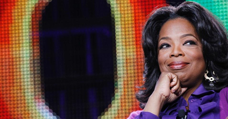 26.jun.2013 - Oprah Winfrey em coletiva de imprensa da OWN, em Pasadena, Califórnia