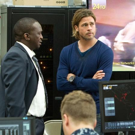 """Cena de """"Guerra Mundial Z"""", estrelado por Brad Pitt - Divulgação / Paramount"""