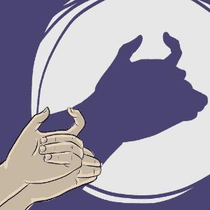 ilustração de boi para o álbum de animais com sombras - Jeff Camargo/UOL