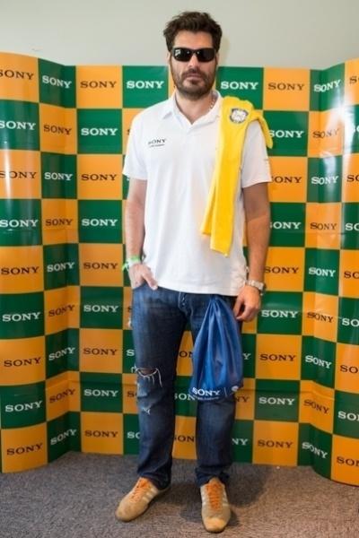 Thiago Lacerda é um dos famosos que torcem pelo Brasil no Mineirão