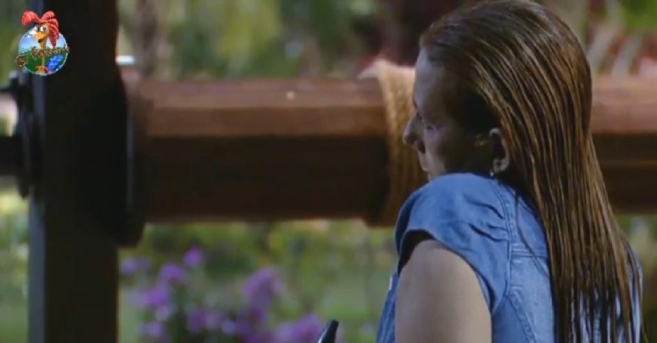 27.jun.2013 - Para Rita, a vida de Denise Rocha pós-Fazenda ainda é uma incógnita
