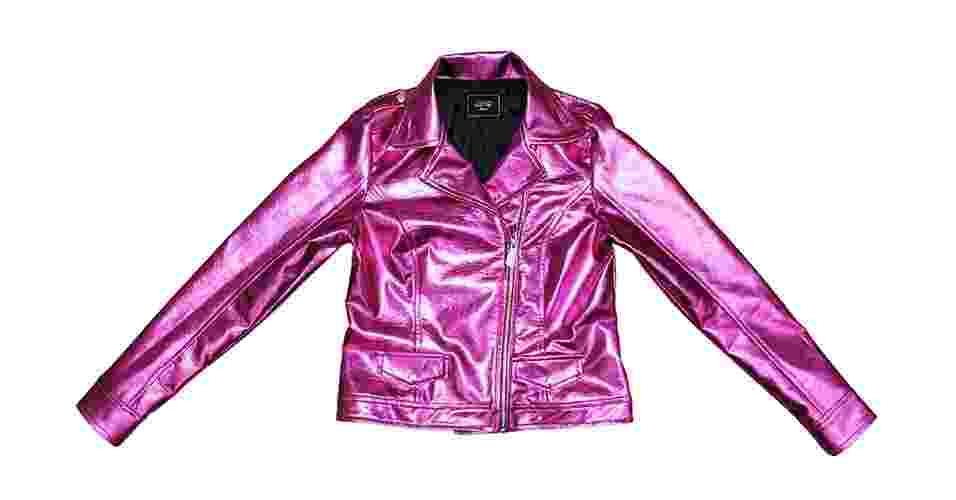 Jaqueta pink metálica; R$489,00, na Nosh (www.nosh.com.br) Preços pesquisados em junho de 2013 e sujeitos a alterações - Divulgação