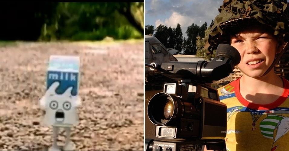 """Garth Jennings é famoso por produzir clipes como """"Coffee & TV"""", do Blur, """"Right Here, Right Now"""", do Fatboy Slim, e """"Pumping on Your Stereo"""", do Supergrass. No cinema, ele foi reconhecido pelo filme """"O Guia do Mochileiro das Galáxias"""" e também por """"O Filho de Rambow"""" (à direita)"""
