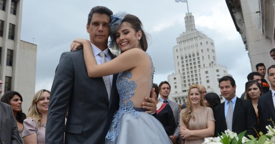 Maria Casadevall e Márcio Garcia. Ator interpretou Guto na trama e traiu Patrícia em plena lua de mel