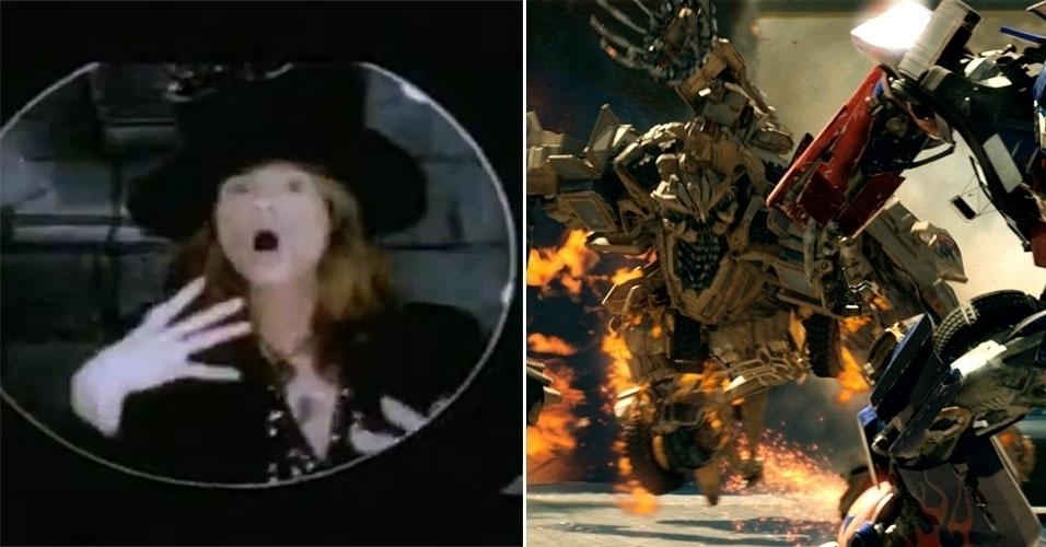 """O diretor Michael Bay despontou nos cinemas depois de """"Armaggedon"""", lançado há 15 anos. No entanto, o ápice de sua carreira como cineasta foi a franquia """"Transformers"""" (à direita). Já no mundo musical, ele dirigiu """"I Touch Myself"""" do Divinyls; """"I Would Do Anything for Love (But I Won't Do That)"""", do Meat Loaf; e """"Falling In Love (Is Hard On the Knees)"""", do Aerosmith (à esquerda)"""
