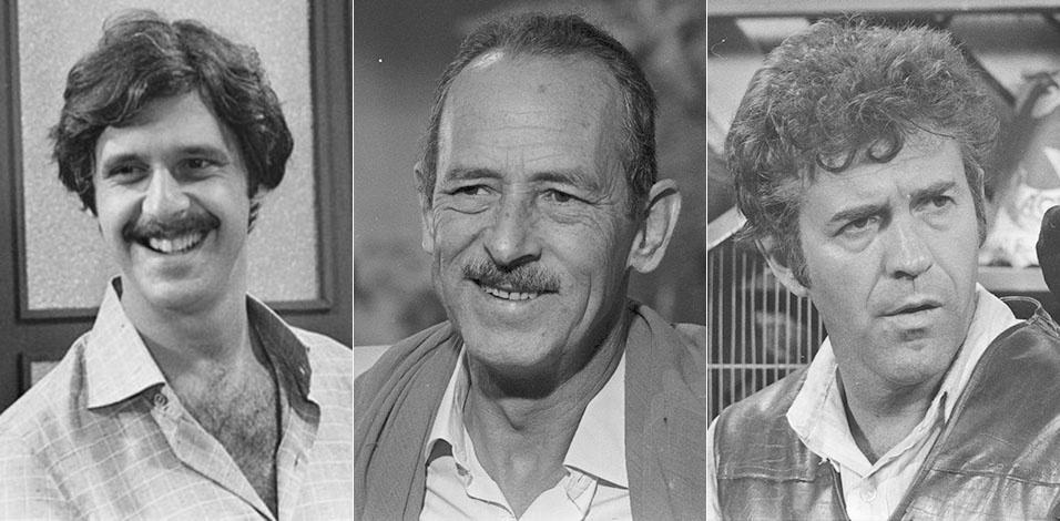 """Na versão original de """"Saramandaia"""", de 1976, Lua, Zico Rosado e João Gibão eram interpretados, respectivamente, por Antonio Fagundes, Castro Gonzaga e Juca de Oliveira"""
