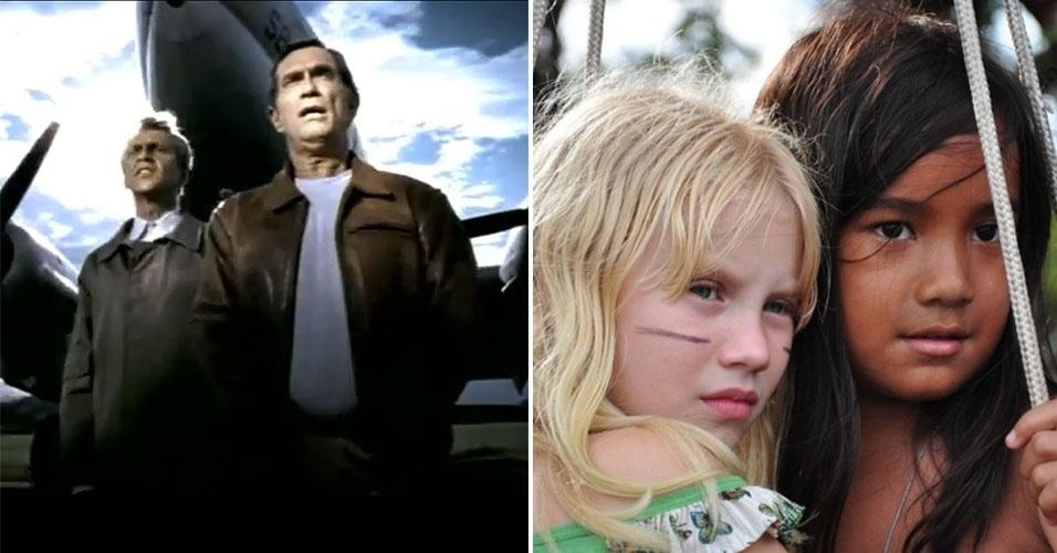 """Diretor do filme """"Tainá 3"""" (à direita), que estreou no ano passado, o brasileiro Mauro Lima começou sua carreira com clipes musicais. Caetano Veloso teve a direção de Lima no clipe de """"Todo Errado"""", que tem participação especial de Jorge Mautner"""