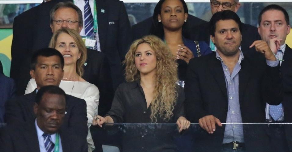 30.jun.2013 -  Shakira assiste ao jogo entre Brasil e Espanha na final da Copa das Confederações no Maracanã