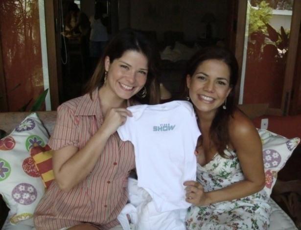 """Como repórter do """"Video Show"""", ela entrevisou a amiga Samara Felippo"""