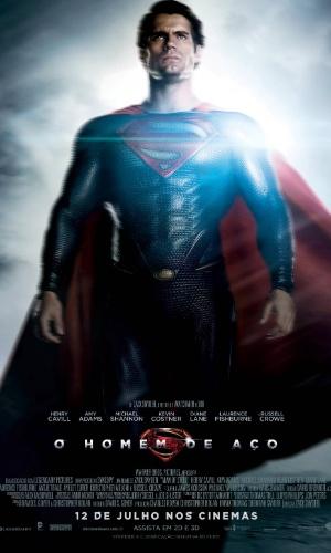 Personagem Super-Homem aparece em cartaz do filme
