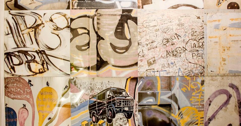 Parte do banheiro do menino foi revestida com porcelanato impresso com desenhos juvenis. (www.cleliareginaangelo.com.br)