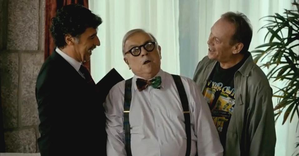 Paulo Betti, Antonio Pedro e José Wilker em cena de