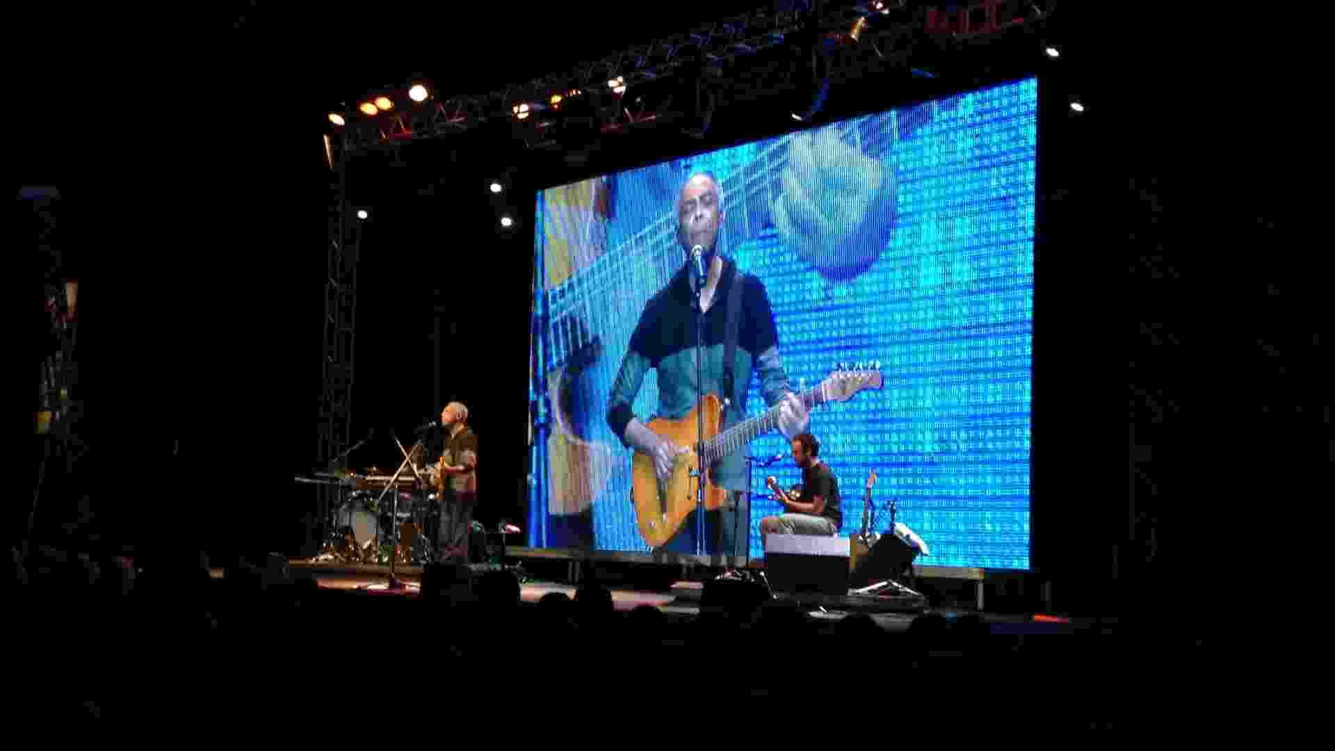3.jul.2013 - O cantor Gilberto Gil se apresenta na primeira noite de eventos da Flip 2013 - Mirella Nascimento/UOL