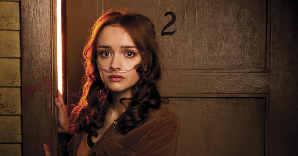 """Em """"Bates Motel"""", Emma (Olivia Cooke) é uma jovem que sofre com fibrose cística na série """"Bates Motel"""""""