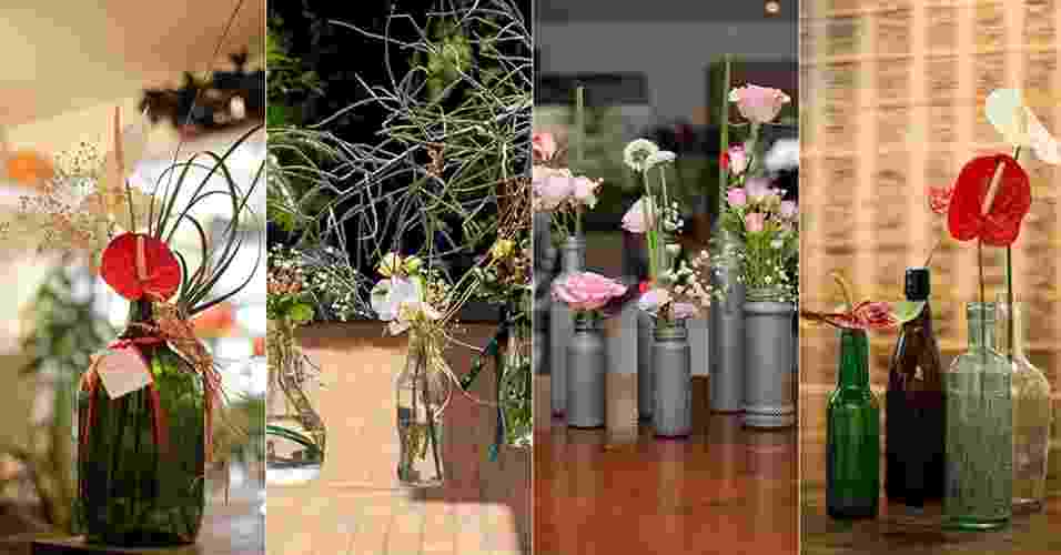 passo a passo jardinagem - arranjos em garrafas - Fernando Donasci/ UOL