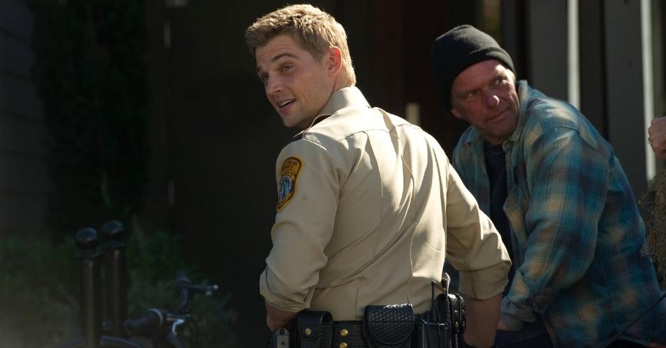 """Zack Shelby (Mike Vogel) é um dos policiais da série """"Bates Motel"""""""