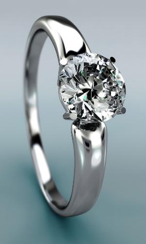 Anel de noivado, diamante