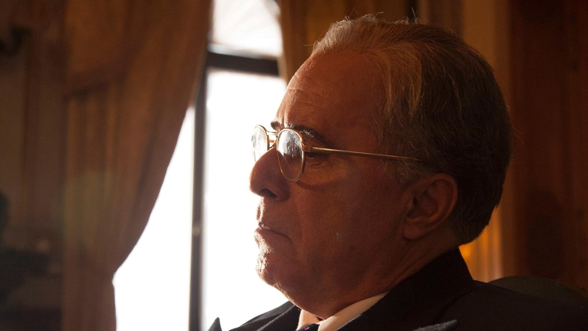 Tony Ramos como Getúlio Vargas em cena do filme