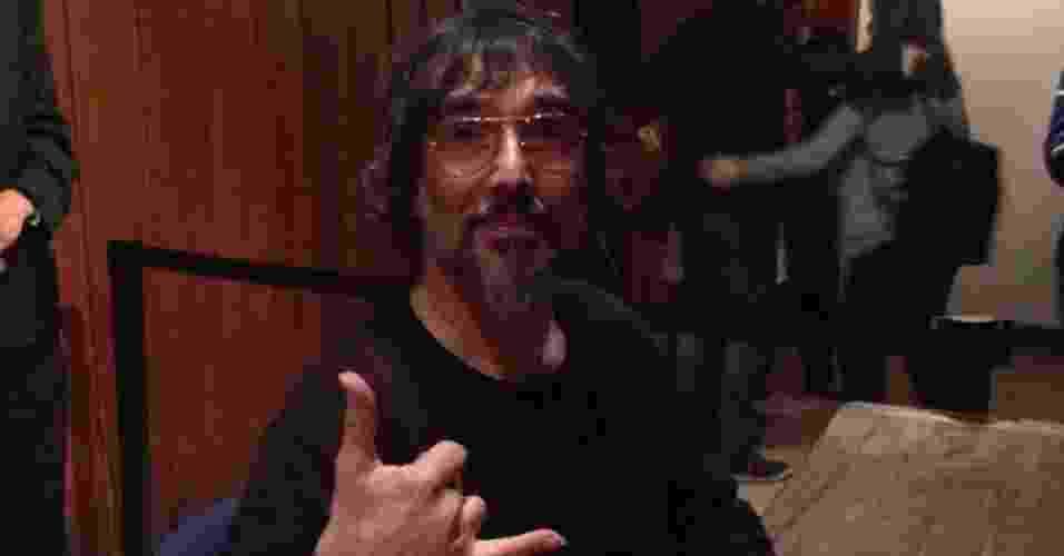 5.jul.2013 - O cantor Lobão participa de mesa sobre música em programação paralela da Flip, em Paraty - Mirella Nascimento/UOL