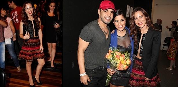 """6.jul.2013 - Wanessa, Zezé e Camila na estreia da peça """"Ourives"""""""