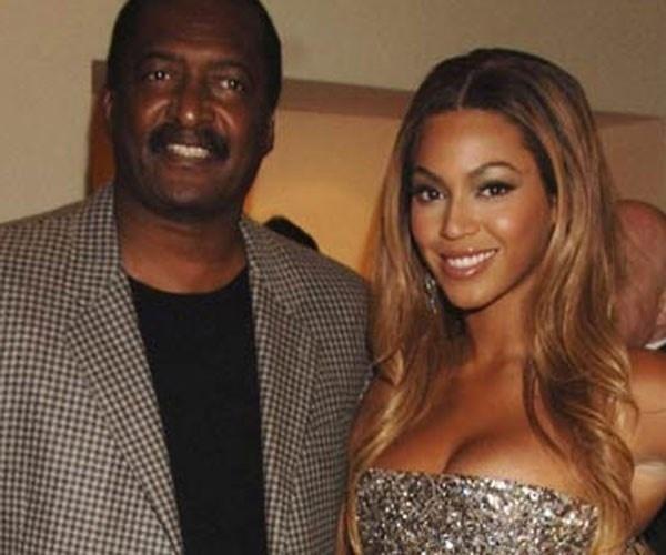Beyoncé e pai Mathew Knowles juntos