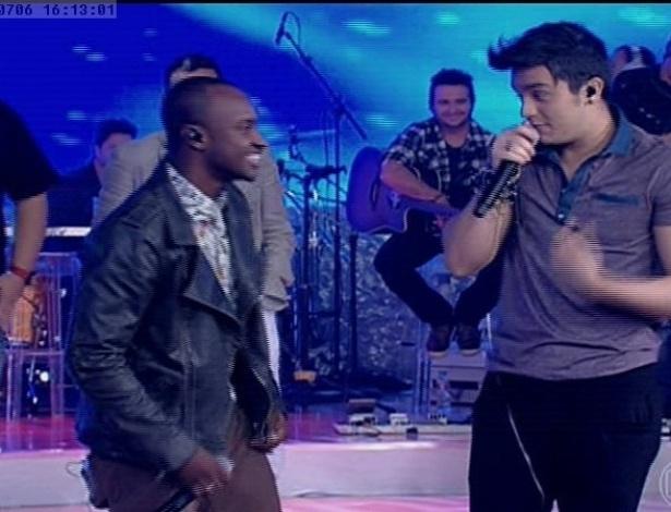 """Luan Santana e Thiaguinho participaram do programa """"TV Xuxa"""""""
