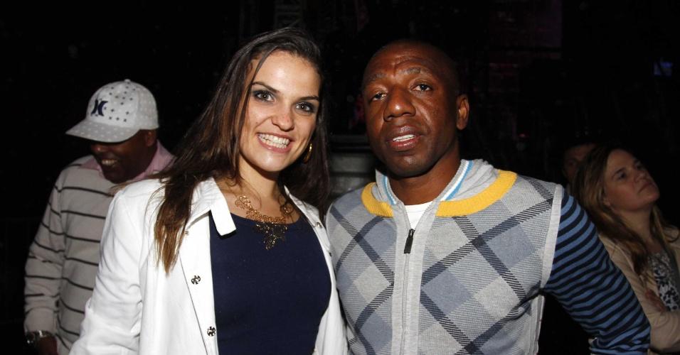 8.jul.2013 - O ex-jogador Amaral esteve na Estância Alto da Serra, em São Paulo, para o show de Bruno & Marrone