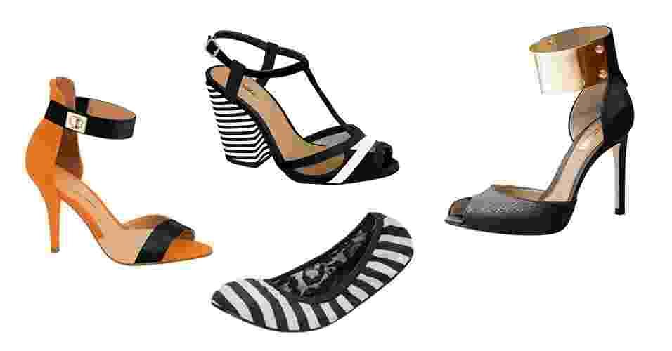 A Francal é a principal feira do mercado de calçados e apresenta seus lançamentos para o Verão 2013/14 entre 9 e 12 de julho. As marcas expositoras confirmam a tendências do preto e branco, que deve continuar com força na próxima temporada, também nos pés das brasileiras. As peças chegam às lojas entre agosto e setembro - Divulgação