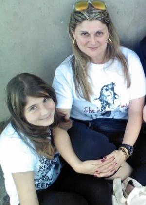 Rachel Perez acompanhou a filha, Lara, ao show do Justin Bieber - Arquivo Pessoal