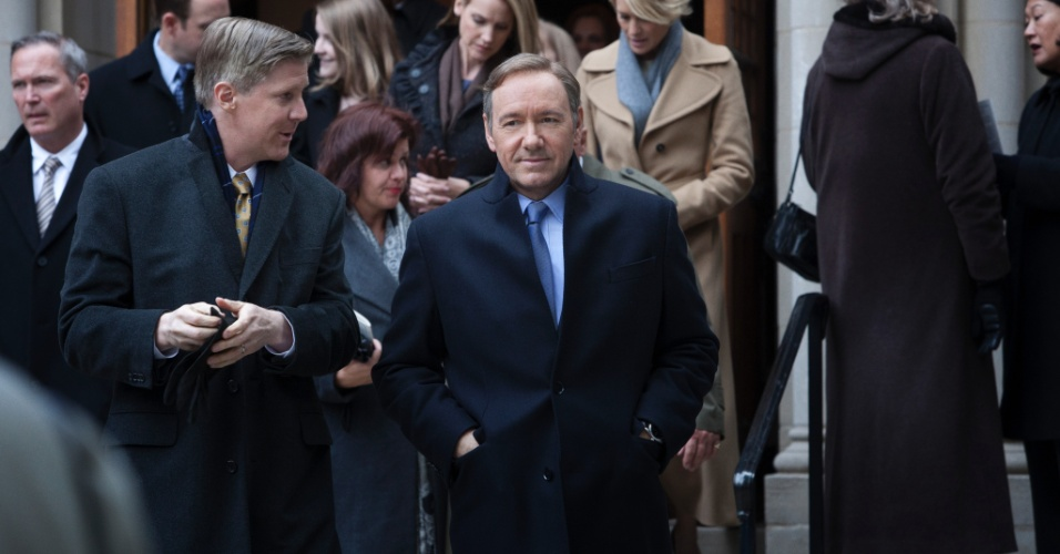 "11.jul.2013 - O ator Kevin Spacey interpreta o deputado Francis Underwood na série ""House of Cards"", do Netflix"