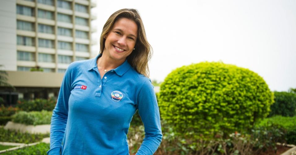 A jornalista Fernanda Gentil, que acompanhou a Seleção Brasileira durante a Copa das Confederações