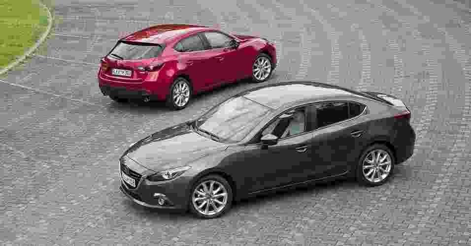Mazda 3 hatch e sedã - Divulgação