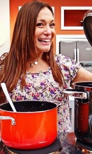 """2012 - Susana Vieira participa de quadro do programa """"Mais Você"""""""