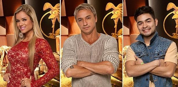 13.jul.2013 - Aryane, Paulo Nunes e Yudi são indicados à roça