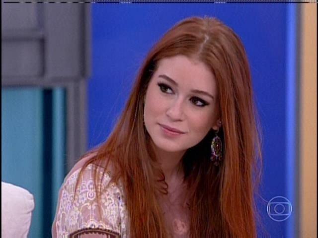 Marina Ruy Barbosa durante participação no