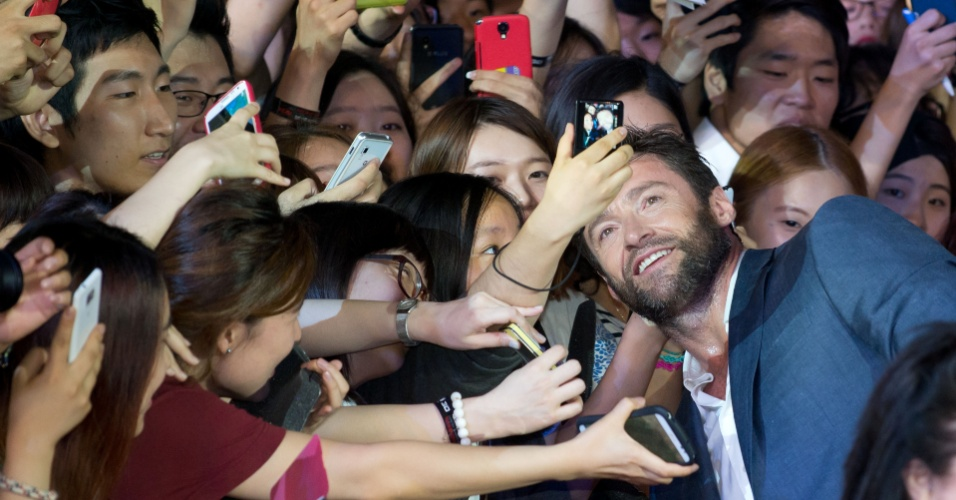 15.jul.2013 - Hugh Jackman promove